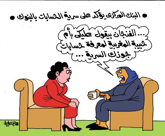 كاريكاتير، اليوم السابع، كشف حساب، حسابات سرية