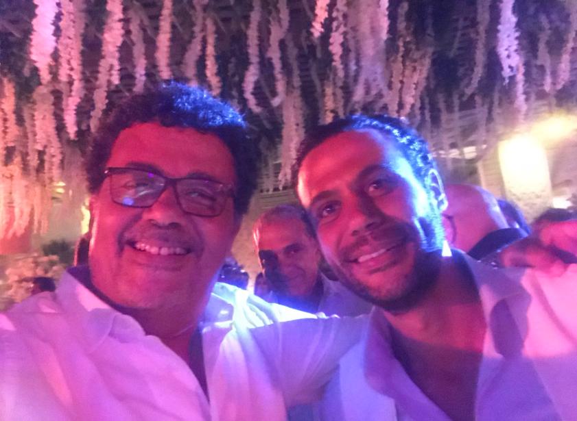 عمرو عرفه مع العريس محمد عادل إمام