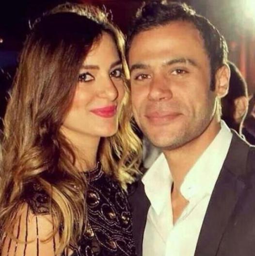محمد امام وزوجته