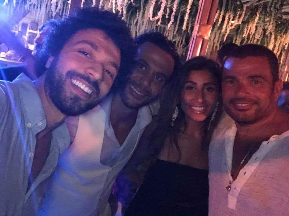 عمرو دياب ودينا الشربينى وأحمد خالد موسى