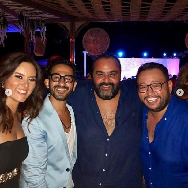 نجوم الفن فى حفل زفاف محمد عادل إمام