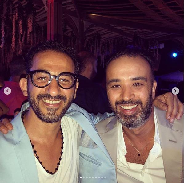 النجم أحمد حلمى خلال حفل زفاف محمد عادل إمام