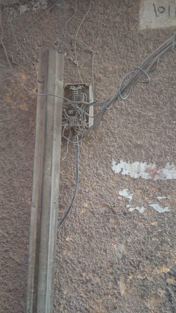 هالك الشبكة الخطوط الأرضية للتليفون الأرضى فى حلوان (3)