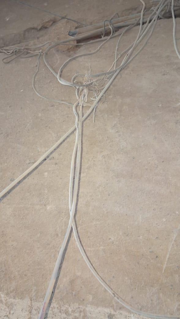 هالك الشبكة الخطوط الأرضية للتليفون الأرضى فى حلوان (5)