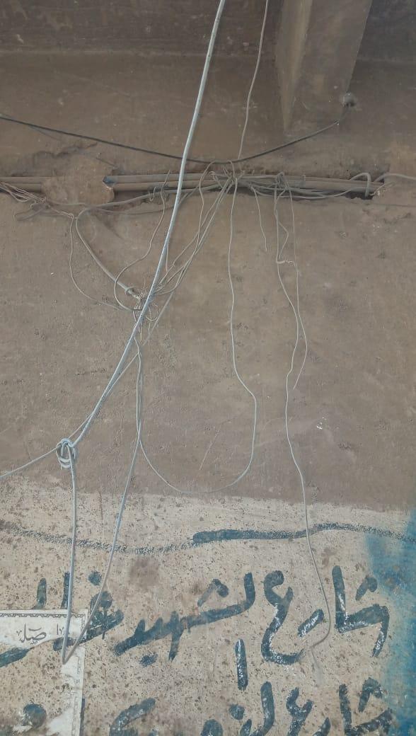 هالك الشبكة الخطوط الأرضية للتليفون الأرضى فى حلوان (4)