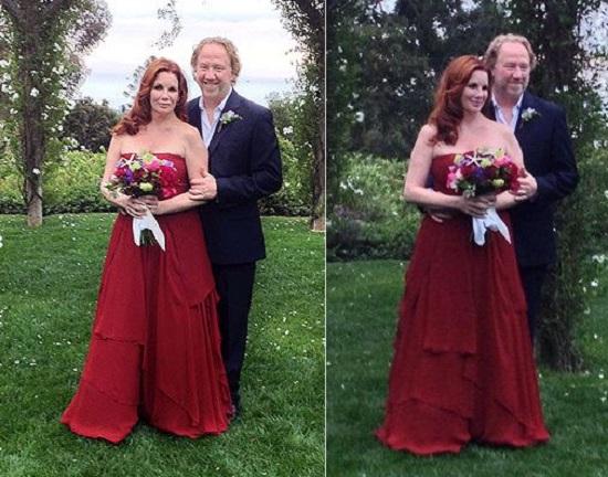 فستان زفاف ميليسا جيلبرت الممثلة