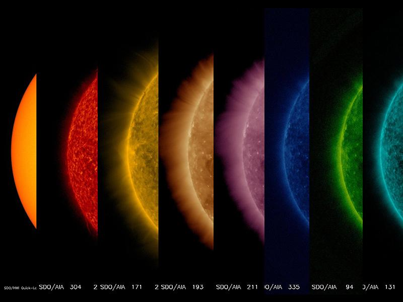 صورة مختلفة للشمس التقطتها وكالة ناسا لابحاث الفضاء
