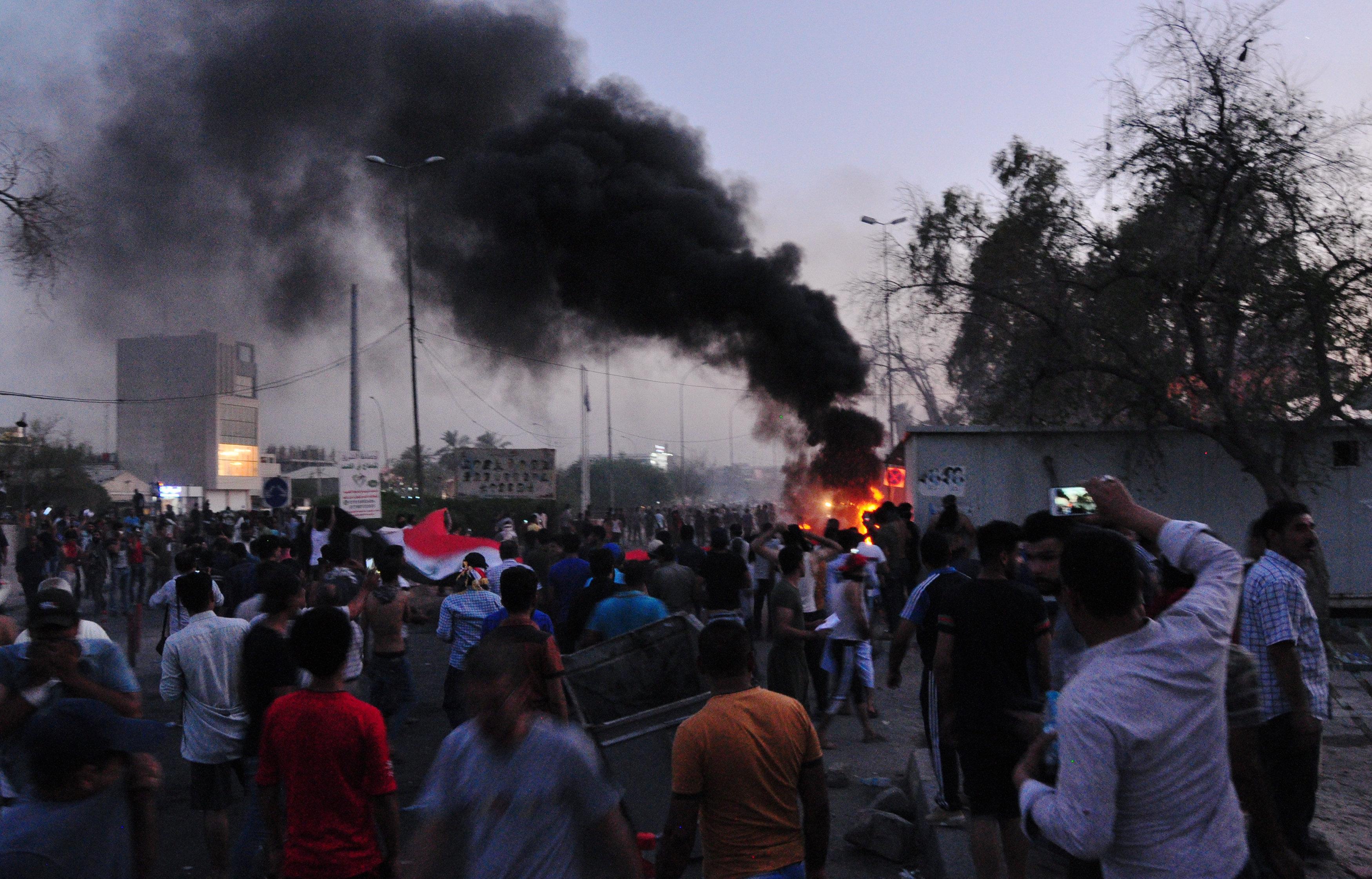 جانب من المواجهات فى العراق