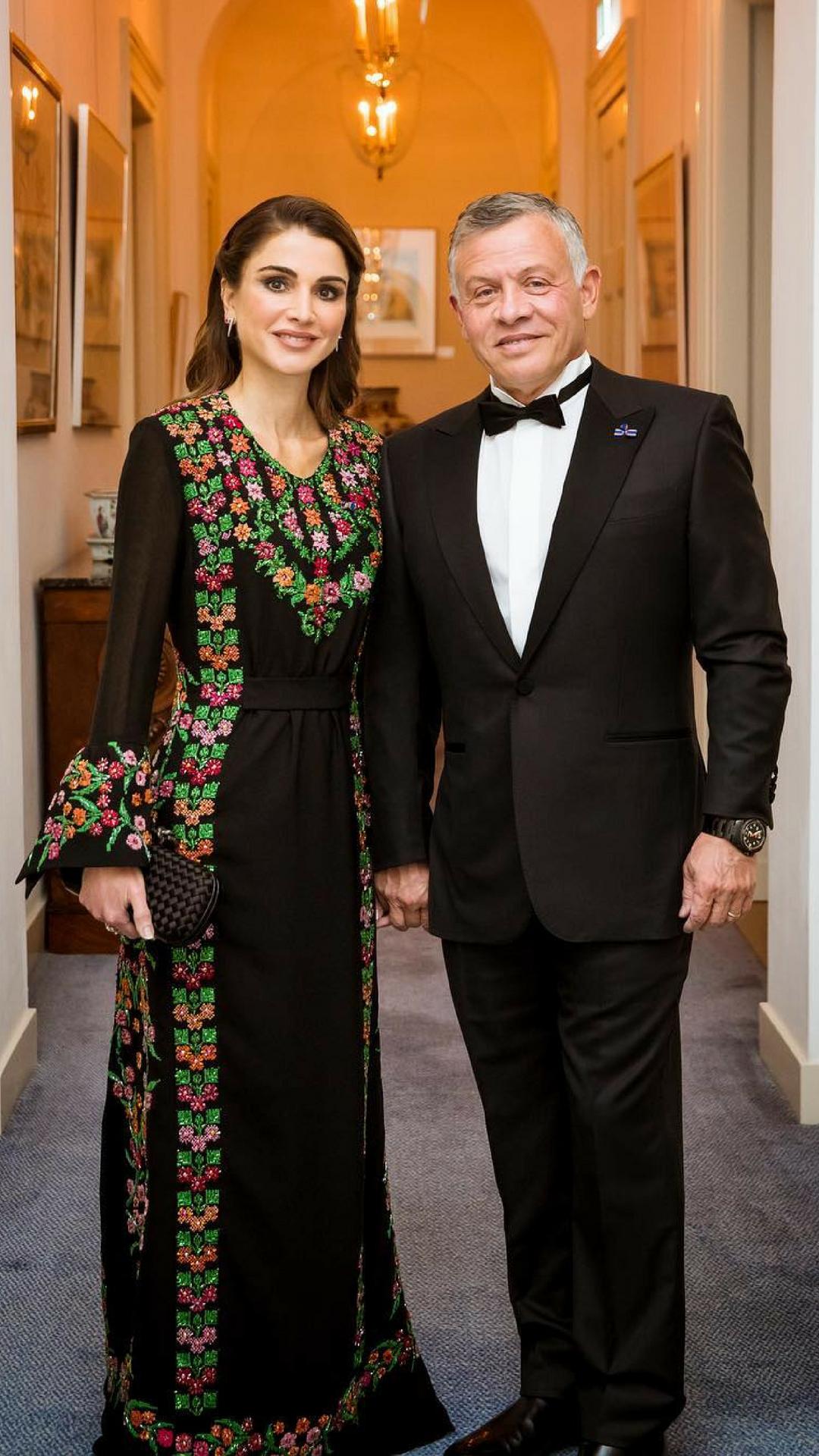 الملكة رانيا والعاهل الأردنى