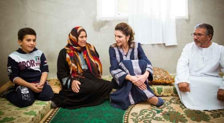 الملكة رانيا ورعايتها للأردنيين