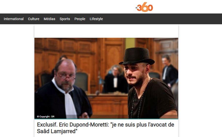 صحيفة 360 الفرنسية تنفرد بنشر تصريحات إيريك بانسحابه من تمثيل المعلم