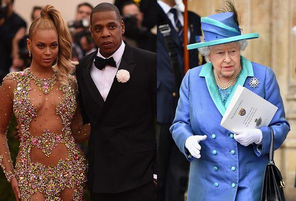 الملكة اليزابيث و بيونسيه و جاي زد