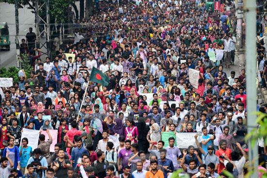 مظاهرات فى بنجلاديش