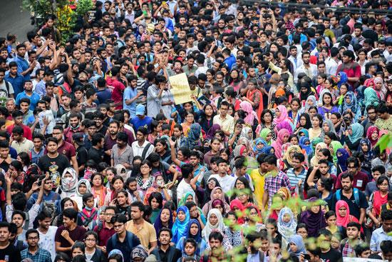 جانب من مظاهرات فى بنجلاديش