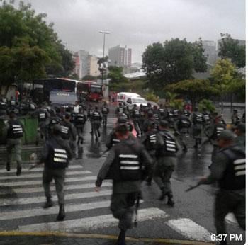 شرطة فنزويلا خلال الهجوم