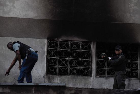 آثار الهجوم على الرئيس الفنزويلى