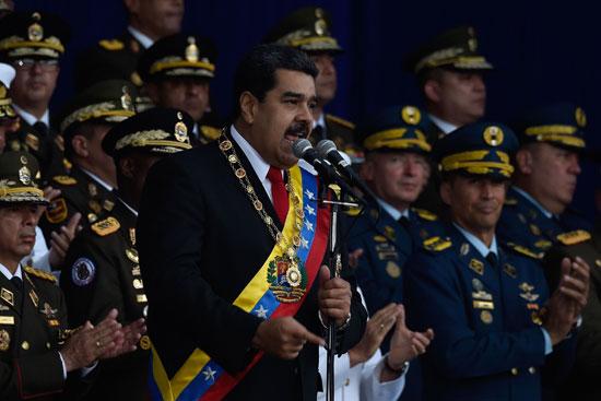 جانب من كلمة الرئيس الفنزويلى