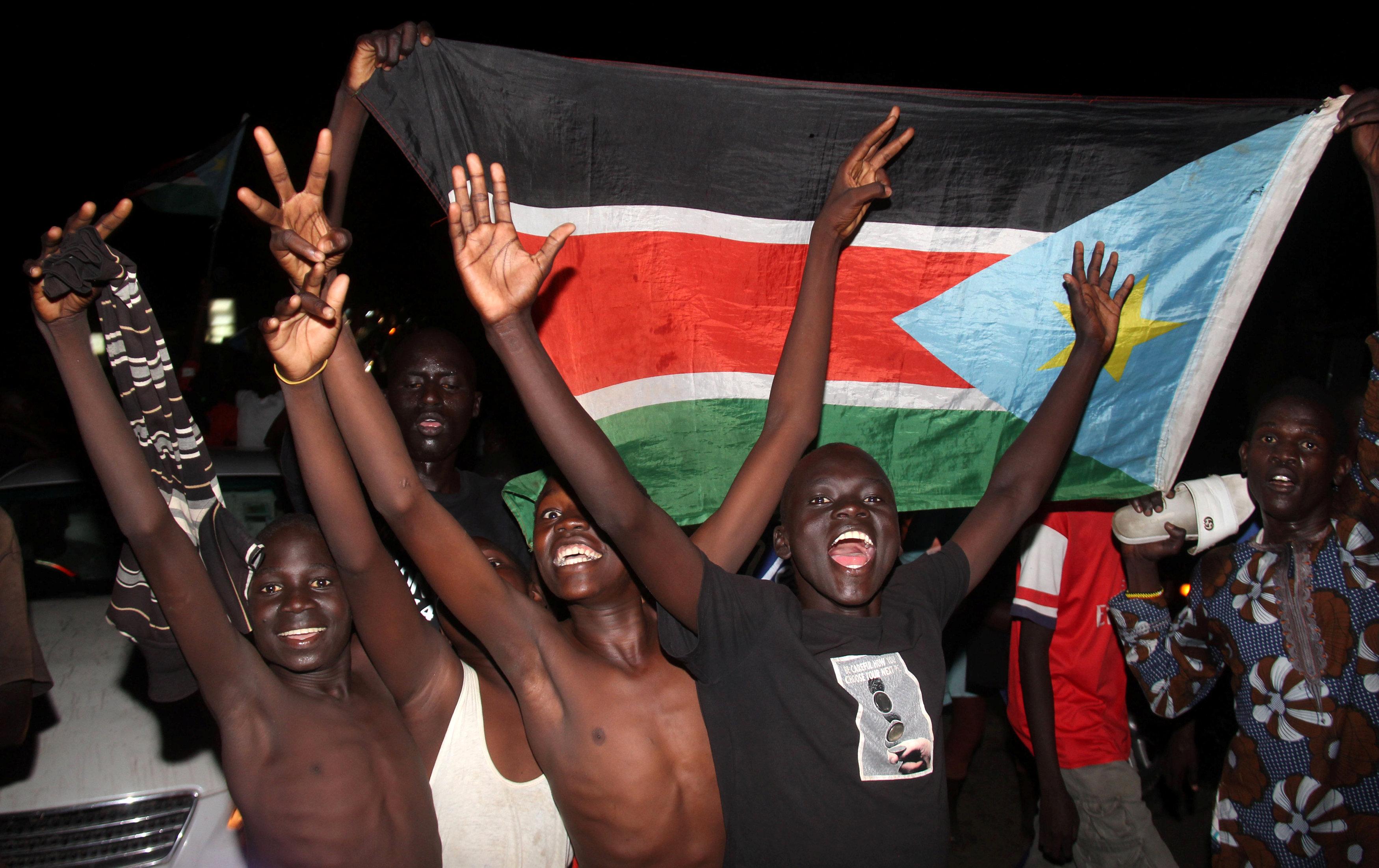 احتفالات بين مواطنى جنوب السودان