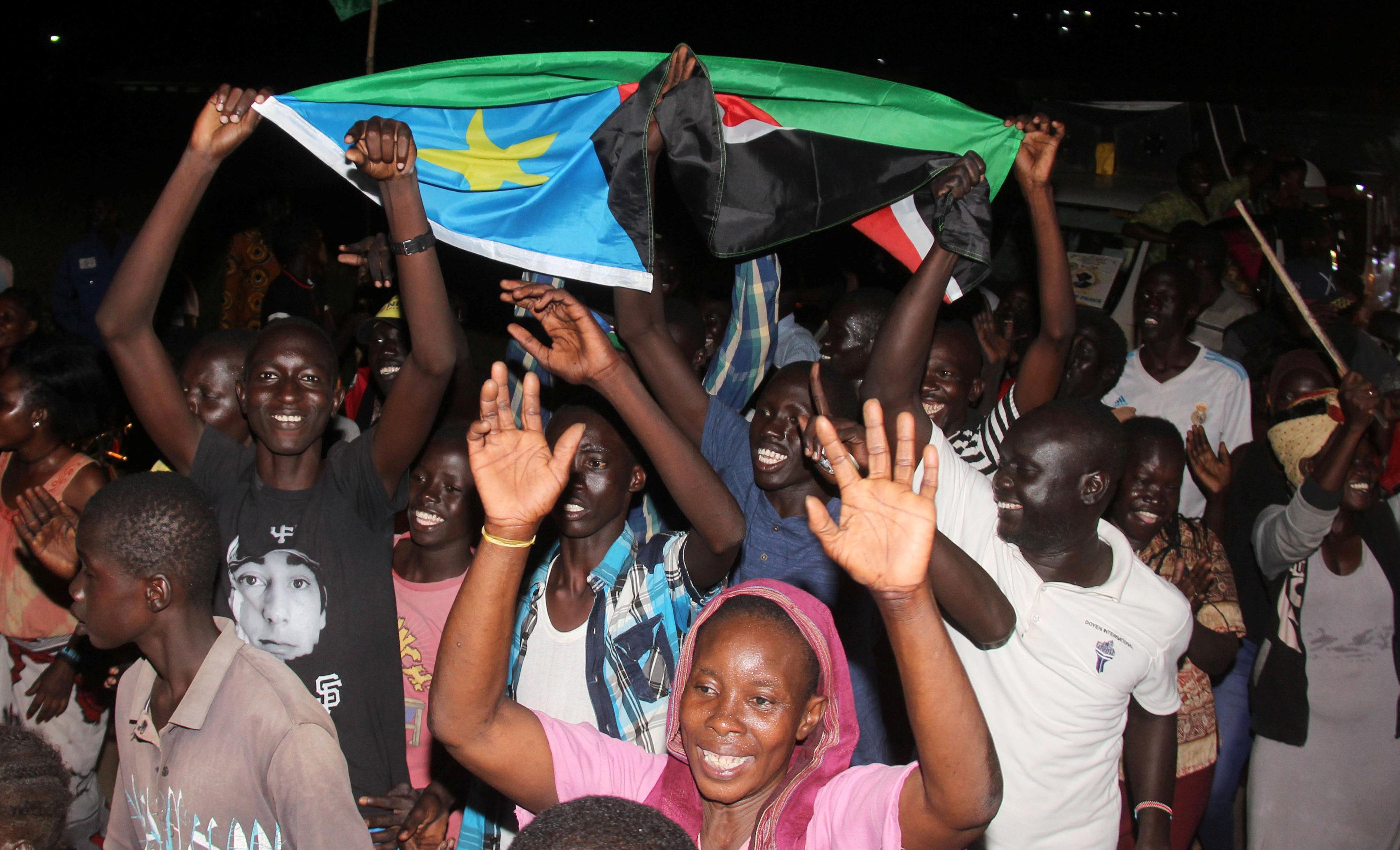مواطنى جنوب السودان يحتفلون بالسلام
