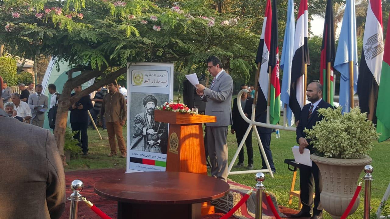 أفغانستان تهدى مصر تمثال جمال الدين الأفغانى فى عيد افتتاح قناة السويس الجديدة (11)