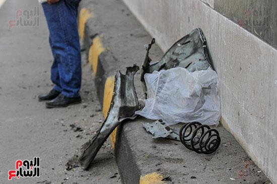 انفجار سيارتين فى مطلع كوبرى اكتوبر (9)