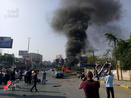 انفجار سيارتين فى مطلع كوبرى اكتوبر (16)