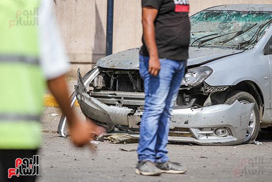 انفجار سيارتين فى مطلع كوبرى اكتوبر (12)