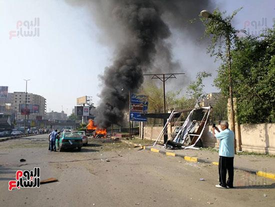 انفجار سيارتين فى مطلع كوبرى اكتوبر (33)