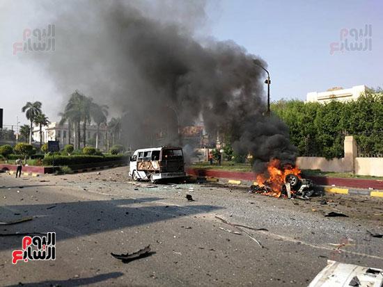 انفجار سيارتين فى مطلع كوبرى اكتوبر (30)