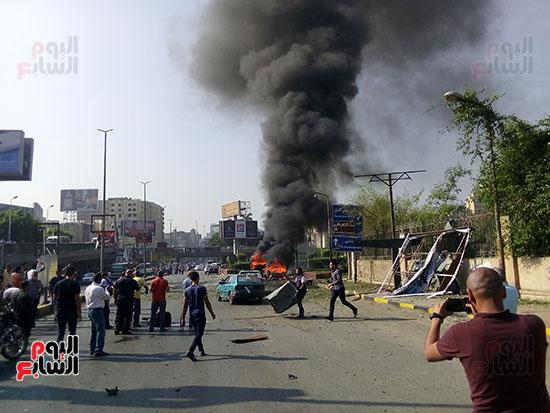 انفجار سيارتين فى مطلع كوبرى اكتوبر (17)