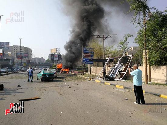 انفجار سيارتين فى مطلع كوبرى اكتوبر (37)
