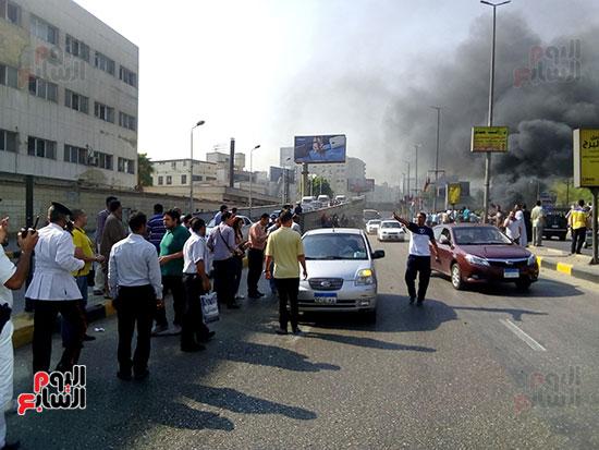انفجار سيارتين فى مطلع كوبرى اكتوبر (22)