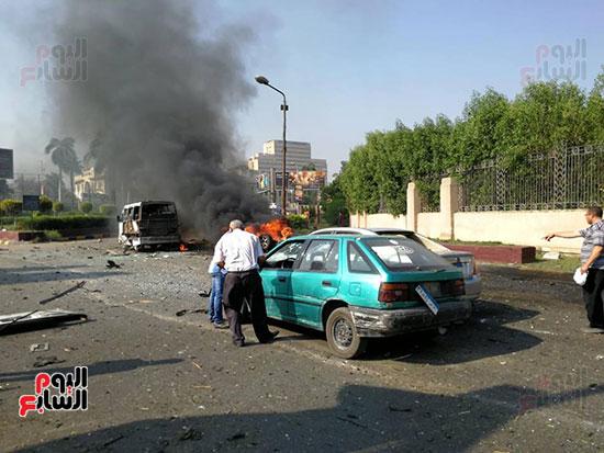 انفجار سيارة بكوبرى اكتوبر (6)