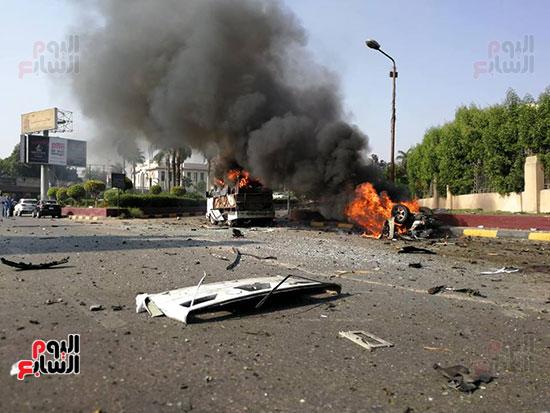 انفجار سيارتين فى مطلع كوبرى اكتوبر (32)