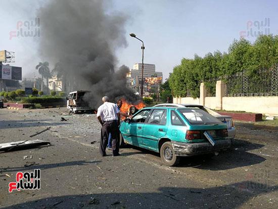 انفجار سيارتين فى مطلع كوبرى اكتوبر (35)