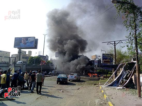 انفجار سيارتين فى مطلع كوبرى اكتوبر (19)