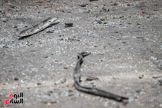 انفجار سيارتين فى مطلع كوبرى اكتوبر (5)