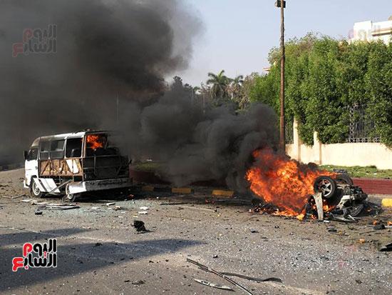انفجار سيارتين فى مطلع كوبرى اكتوبر (34)