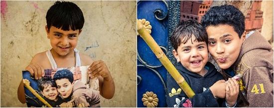 أطفال جزيرة الدهب يحملون صورهم (2)