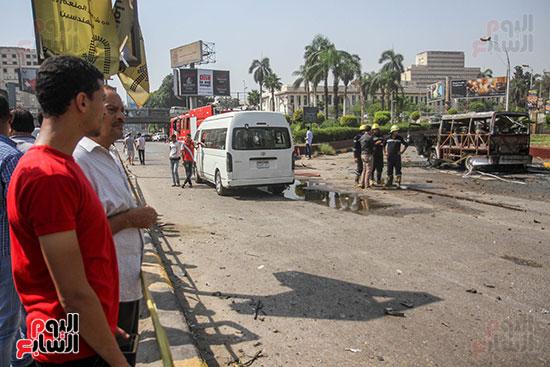 انفجار سيارتين فى مطلع كوبرى اكتوبر (41)