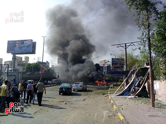 انفجار سيارتين فى مطلع كوبرى اكتوبر (20)