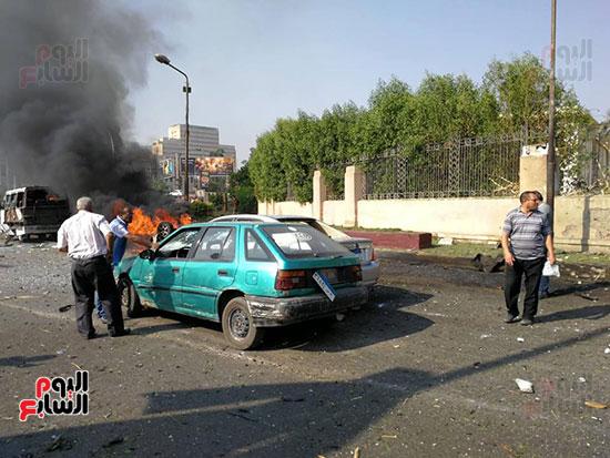 انفجار سيارة بكوبرى اكتوبر (2)