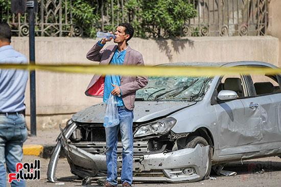 انفجار سيارتين فى مطلع كوبرى اكتوبر (1)