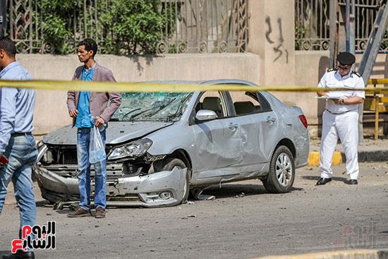 انفجار سيارتين فى مطلع كوبرى اكتوبر (52)