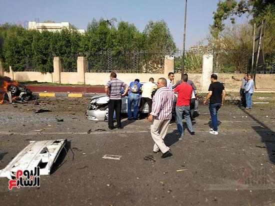 انفجار سيارة بكوبرى اكتوبر (3)