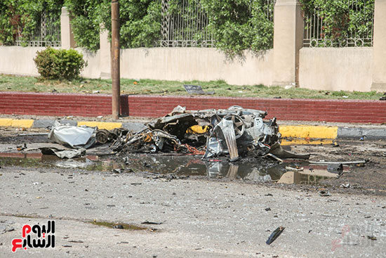 انفجار سيارتين فى مطلع كوبرى اكتوبر (40)