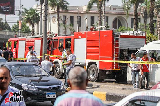 انفجار سيارتين فى مطلع كوبرى اكتوبر (50)