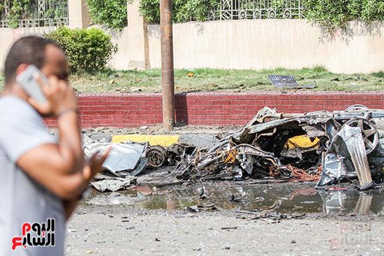 انفجار سيارتين فى مطلع كوبرى اكتوبر (43)