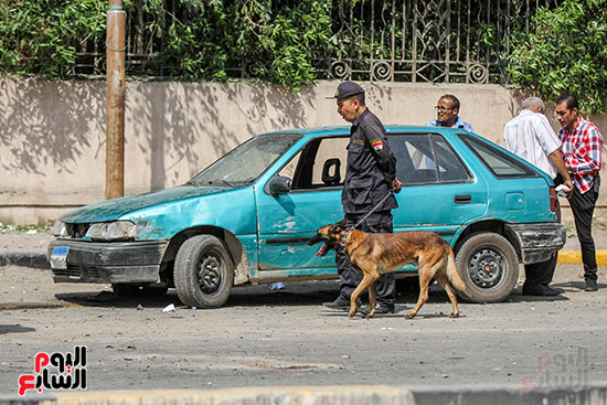 انفجار سيارتين فى مطلع كوبرى اكتوبر (11)