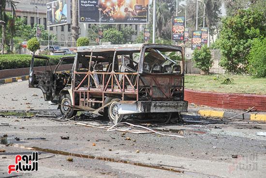 انفجار سيارتين فى مطلع كوبرى اكتوبر (39)